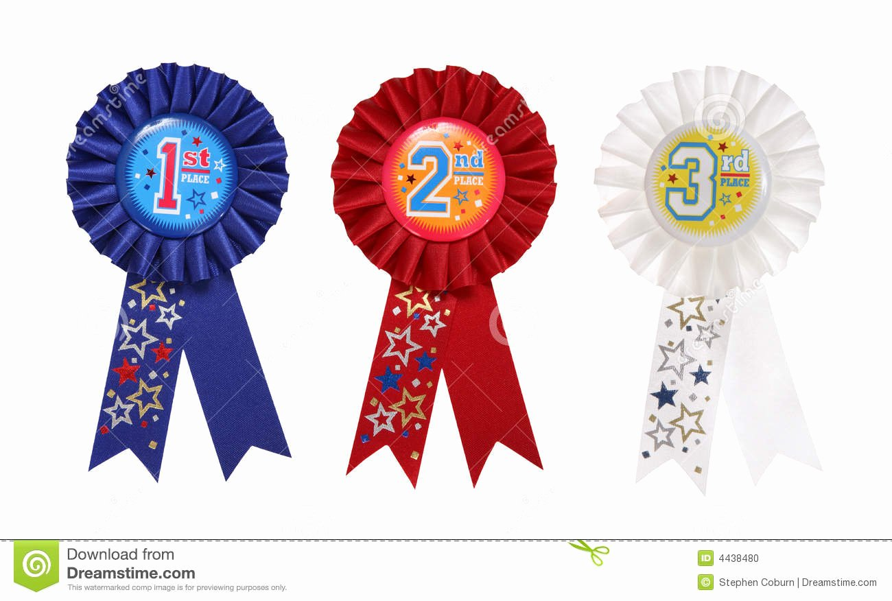 Printable 1st 2nd 3rd Place Ribbons Unique Award Ribbons Stock Photo Image Of Challenge isolated