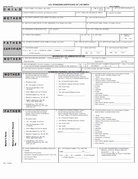 Printable Birth Certificate Template Inspirational 15 Birth Certificate Templates Word & Pdf Free