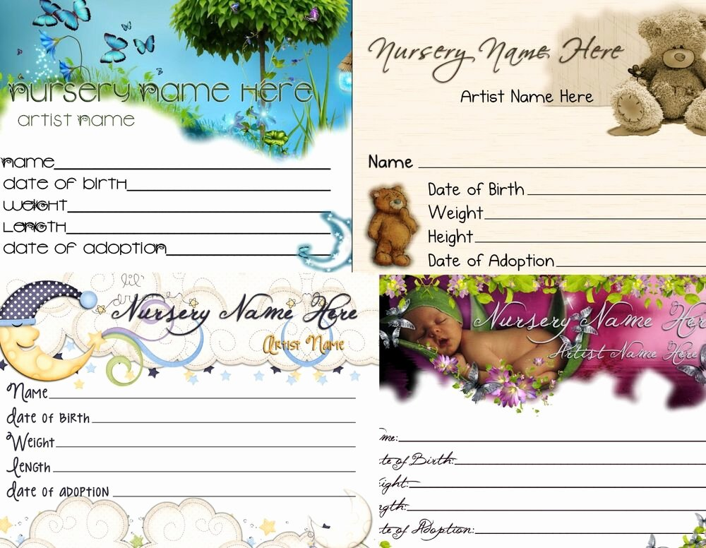 Printable Birth Certificate Template Unique 1 Custom Matching Reborn Birth Certificate with Any Reborn