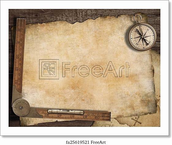 Printable Blank Treasure Map Awesome Free Art Print Of Blank Treasure Map Background with Old