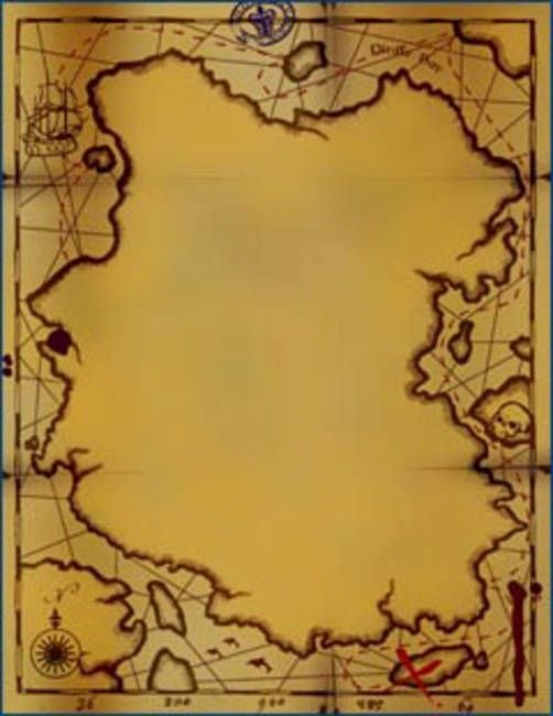 """Printable Blank Treasure Map Awesome """"pirate Map Invitations"""" by Greg Starks"""