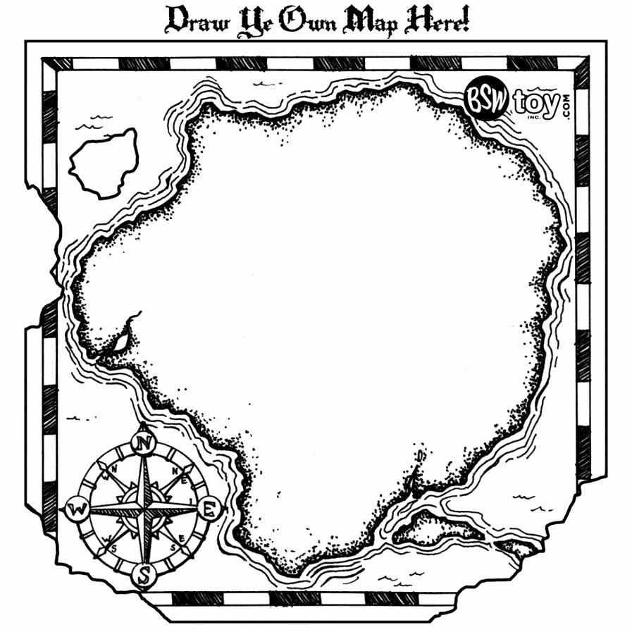 Printable Blank Treasure Map Best Of Treasure Map Outline Clipart Clipground