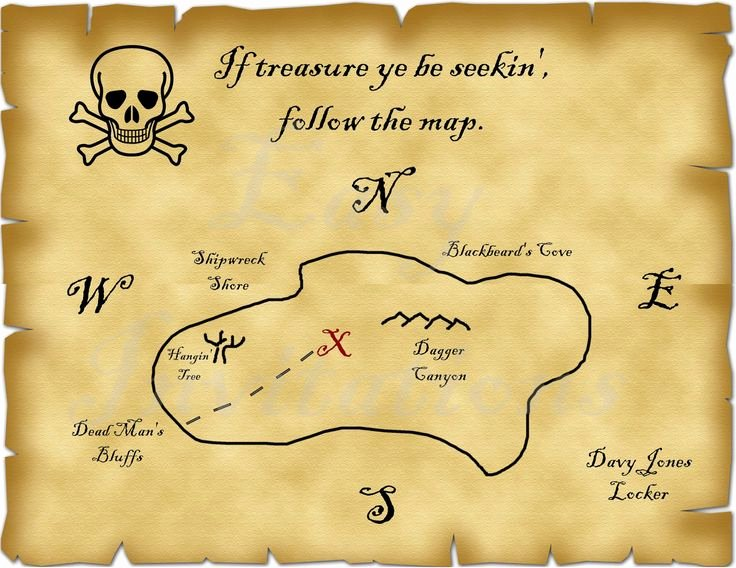 Printable Blank Treasure Map Unique Printable Pirate Treasure Map Best S Template