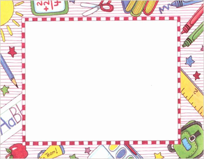 Printable Borders for School Awesome Kindergarten Clipart Borders Clipground