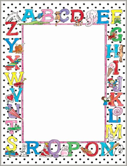 Printable Borders for School Inspirational Alphabet Design Paper School Stationery Geographics