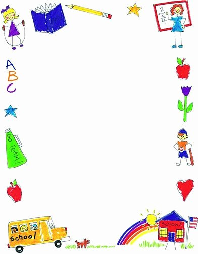Printable Borders for School Inspirational Free Free Preschool Border Clipart Download Free Clip Art