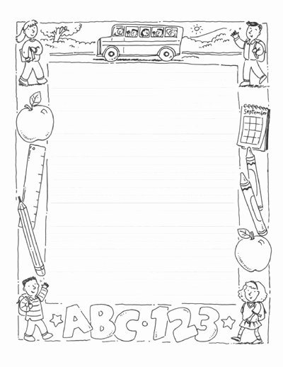 Printable Borders for School New Designed Writing Paper Scholastic