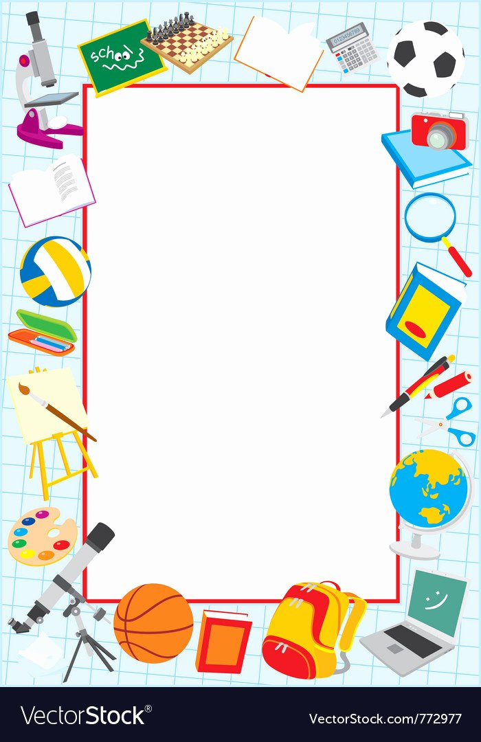 Printable Borders for School New School Border Royalty Free Vector Image Vectorstock