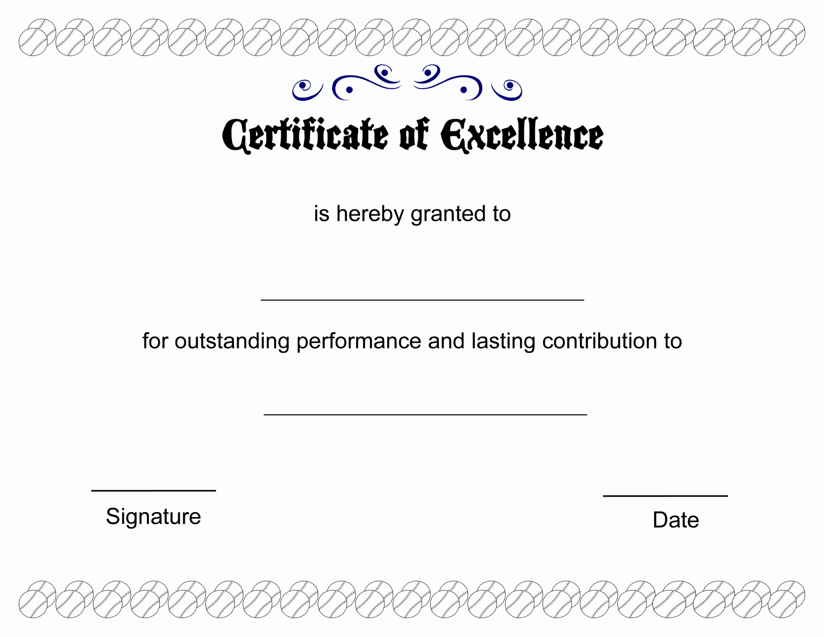 Printable Certificate Of Excellence Awesome Printable Pdfs Certificate Of Excellence Template