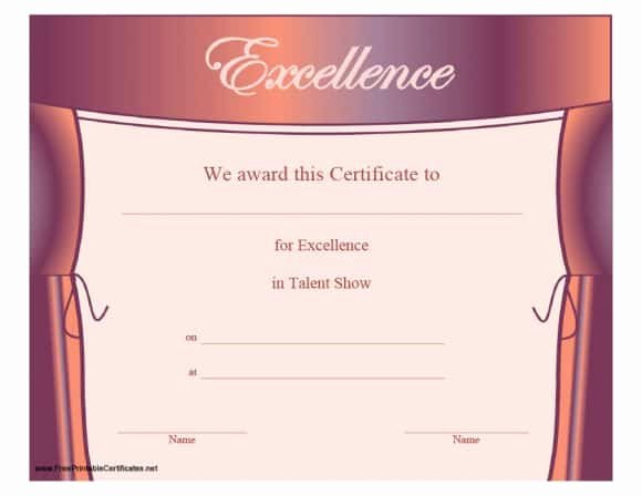 Printable Certificate Of Excellence Best Of 40 Amazing Certificate Of Excellence Templates Printable