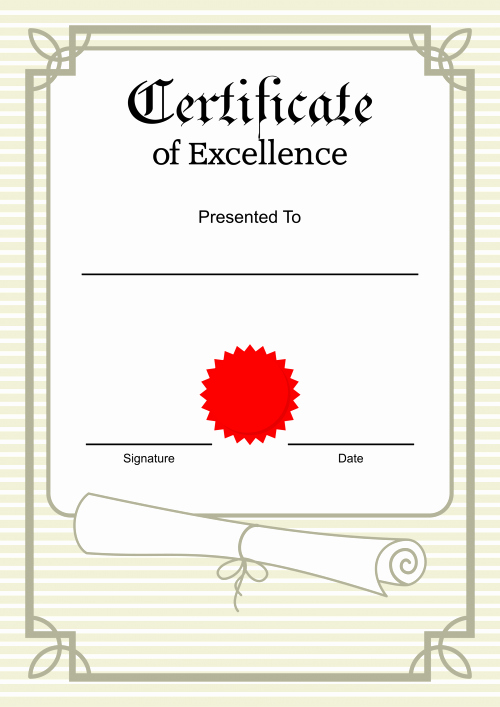 Printable Certificate Of Excellence Elegant Printable Certificate Of Excellence