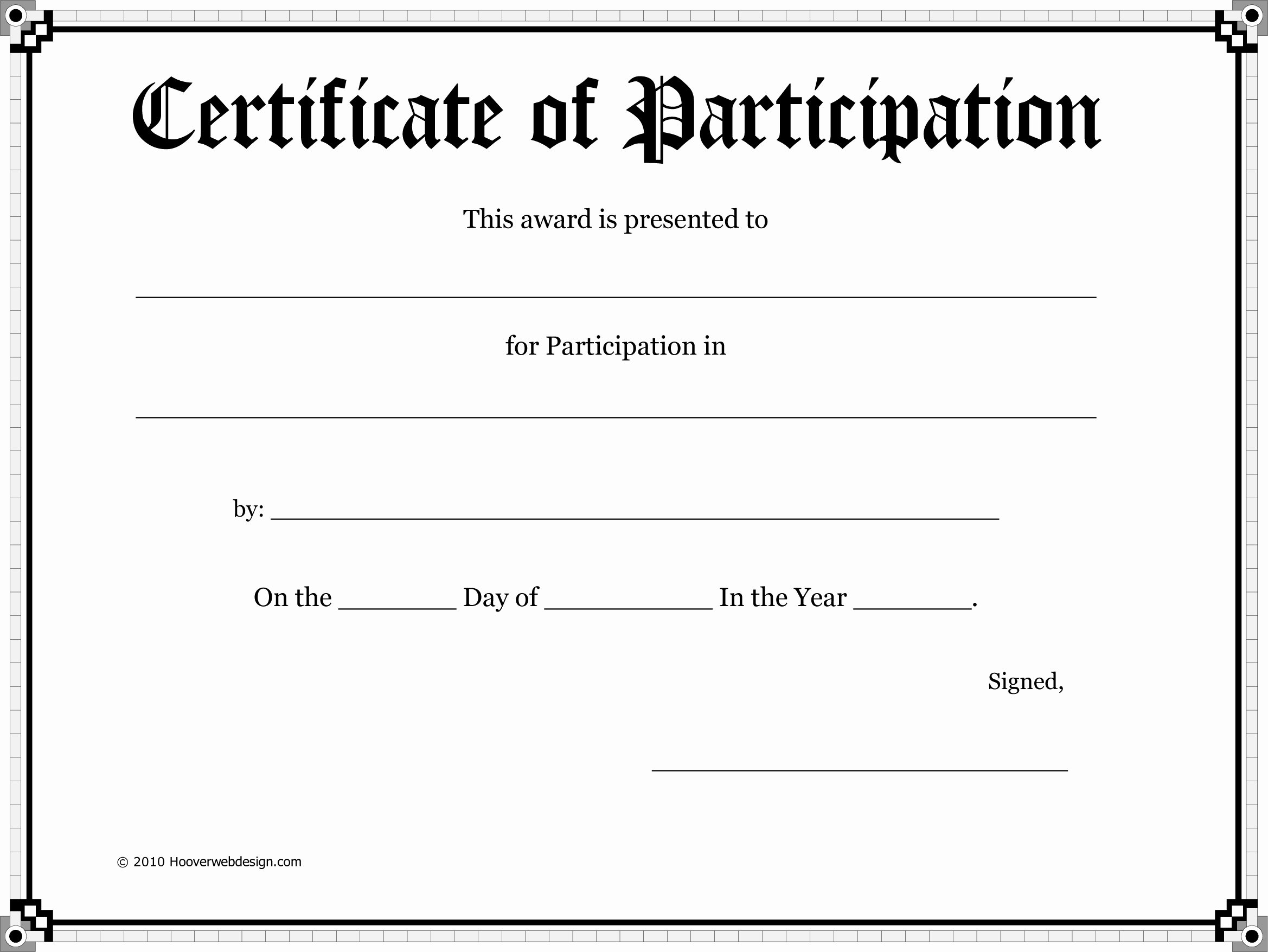 Printable Certificate Of Participation Lovely Free Certificate Template Download Free Clip Art Free