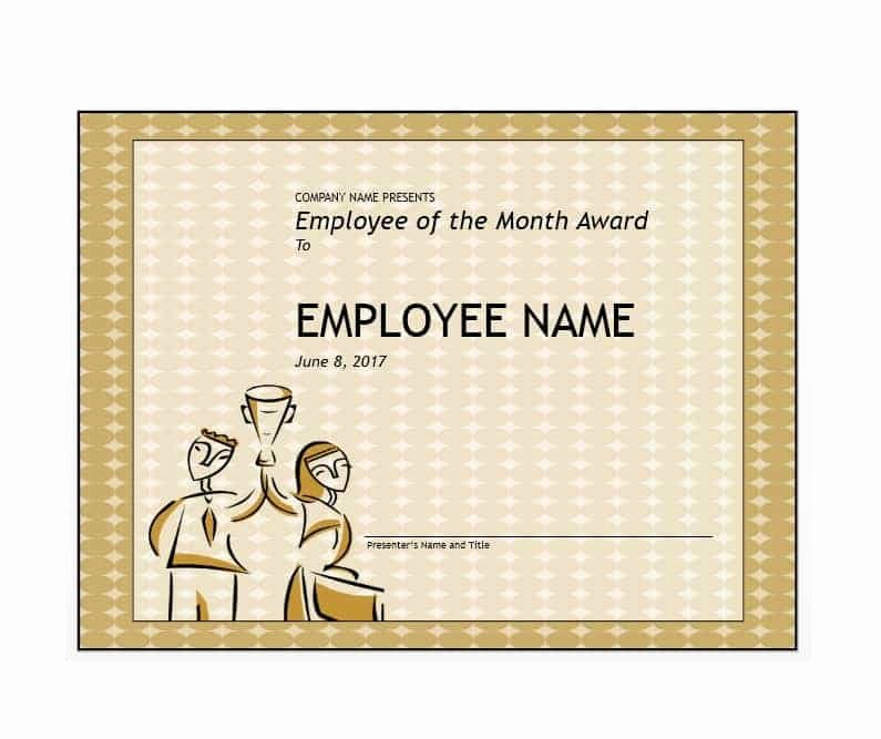 Printable Employee Of the Month Certificate Awesome 30 Printable Employee Of the Month Certificates