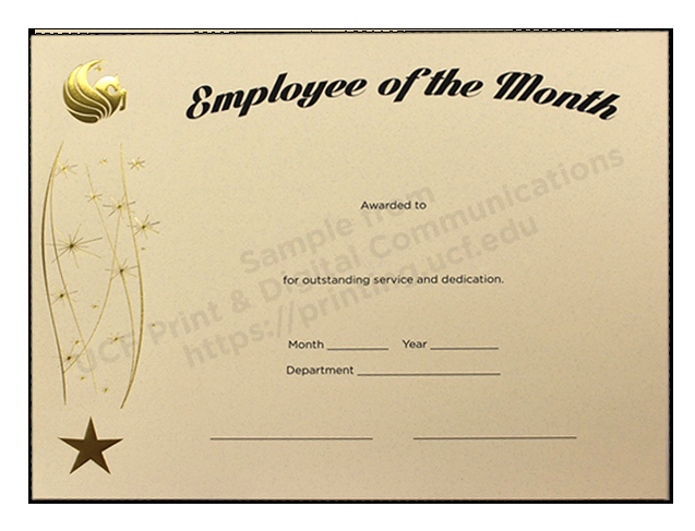 Printable Employee Of the Month Certificate Beautiful Employee the Month Template