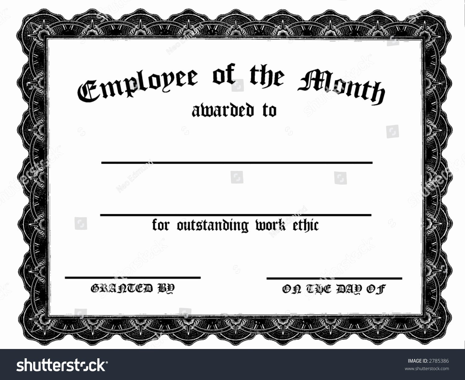 Printable Employee Of the Month Certificate Fresh Customizable Employee Month Certificate Stock