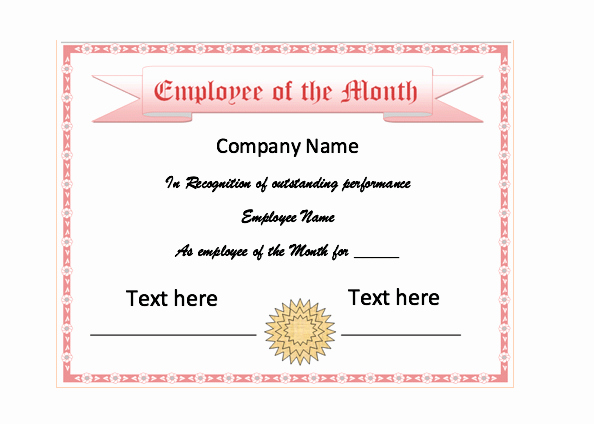 Printable Employee Of the Month Certificate Inspirational Employee the Month Certificate