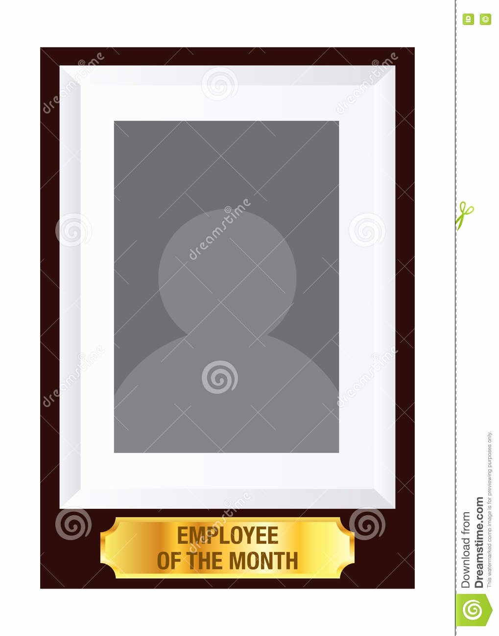 Printable Employee Of the Month Certificate Lovely Employee the Month Frame Template Stock Vector