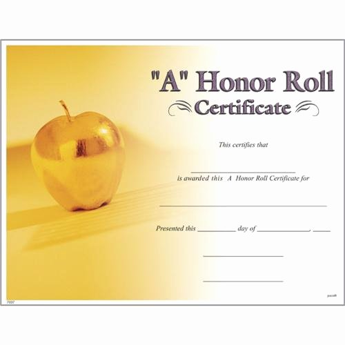 Printable Honor Roll Certificate Inspirational A Honor Roll Certificates A Honor Roll Certificate