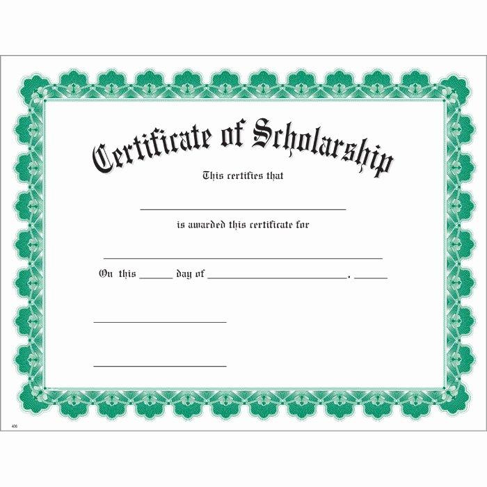 Printable Honor Roll Certificate Inspirational Scholarship Green Uw Certificate Jones School Supply