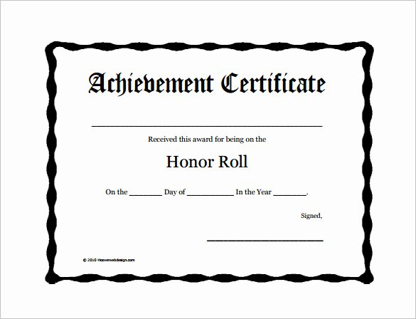 Printable Honor Roll Certificates Awesome Honor Roll Certificate Template