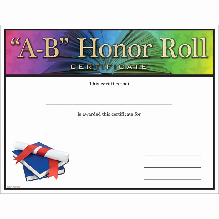 Printable Honor Roll Certificates Elegant Quotes for Honor Rolls Students Quotesgram