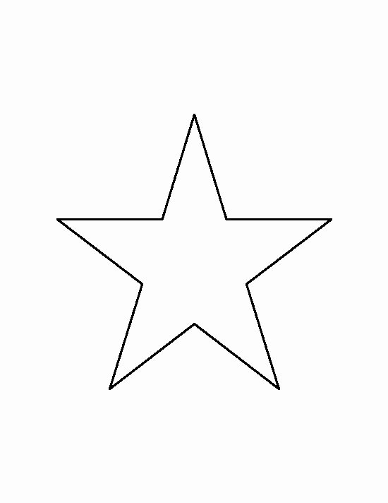 Printable Images Of Stars Elegant 6 Inch Star Pattern Use the Printable Outline for Crafts
