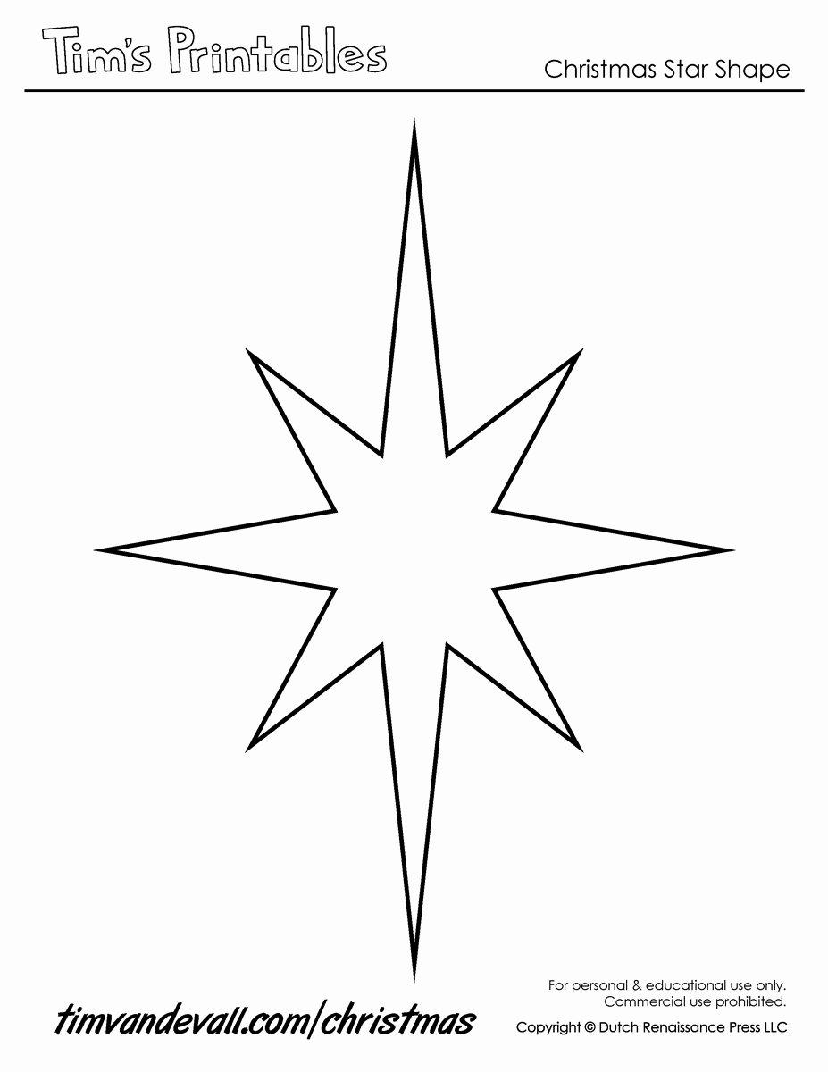 Printable Images Of Stars Inspirational Christmas Star Templates