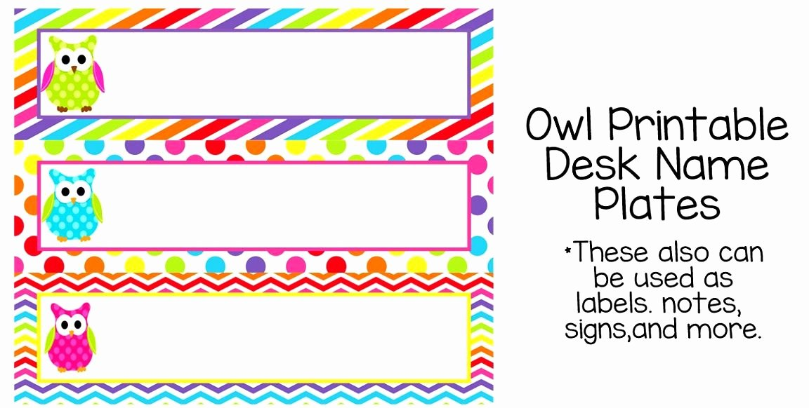 Printable Name Plate Fresh 7 Best Owl Tables Labels Printable Free Example Table