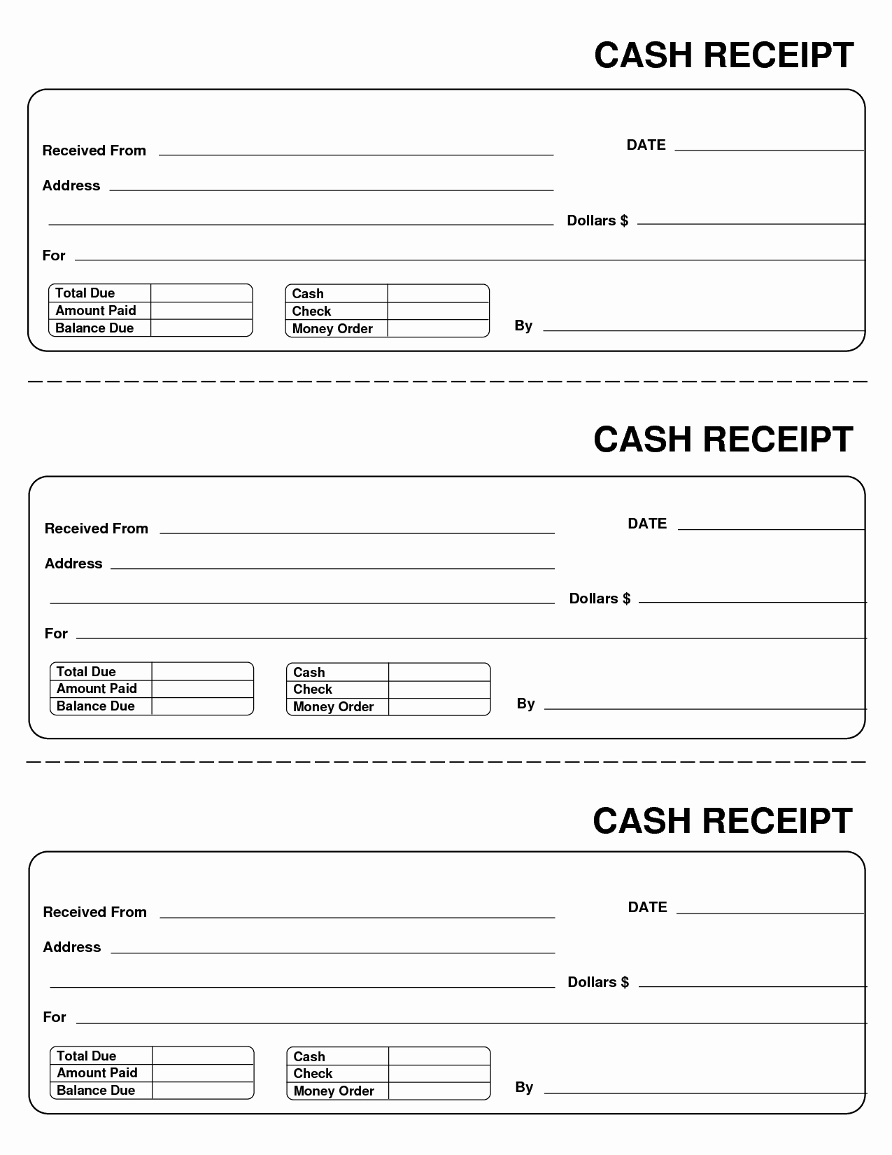 Printable Payment Coupons Beautiful Printable Cash Receipts