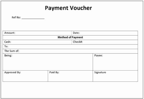 Printable Payment Coupons Lovely A Payment Voucher Template is An Accounting Document that