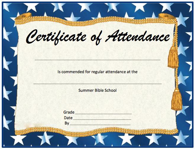 Printable Perfect attendance Award Unique Perfect attendance Award Free Template Ideashelper