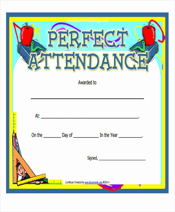 Printable Perfect attendance Certificate Awesome 43 Printable Award Certificates Word Psd Ai Eps Vector
