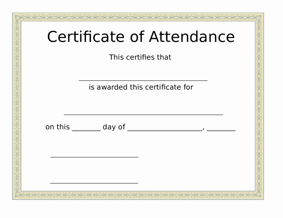 Printable Perfect attendance Certificates Best Of Printable attendance Certificates