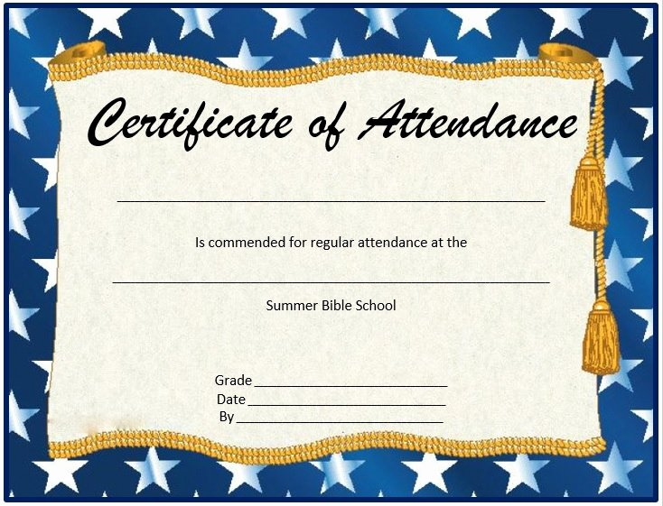 Printable Perfect attendance Certificates Inspirational 8 Free Sample attendance Certificate Templates Printable