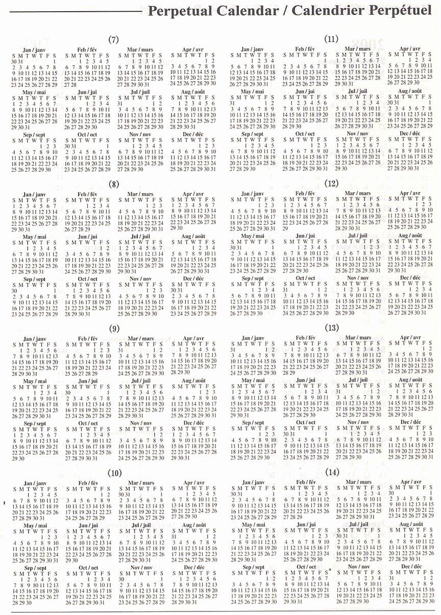 Printable Perpetual Calendar Chart Beautiful Perpetual Calendar Yangah solen