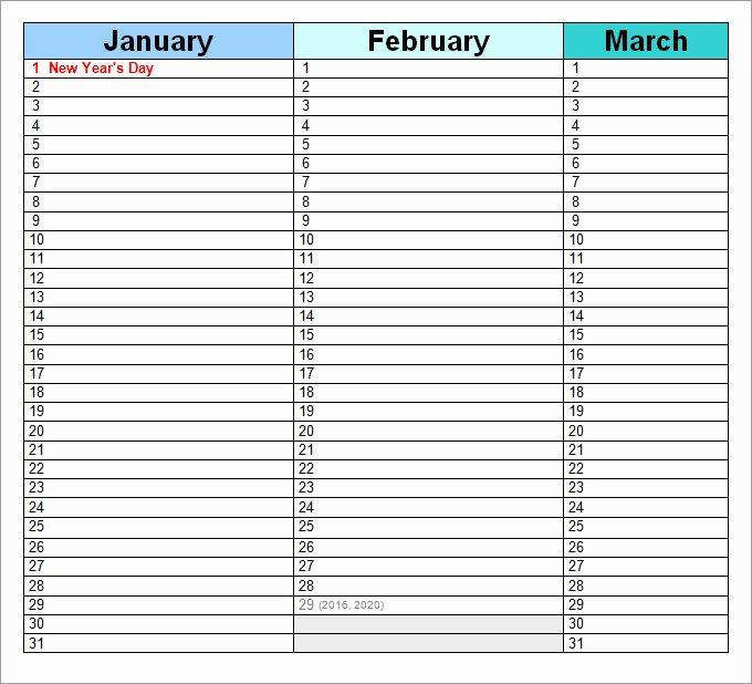 Printable Perpetual Calendar Chart Luxury Perpetual Calendar Calendar Template