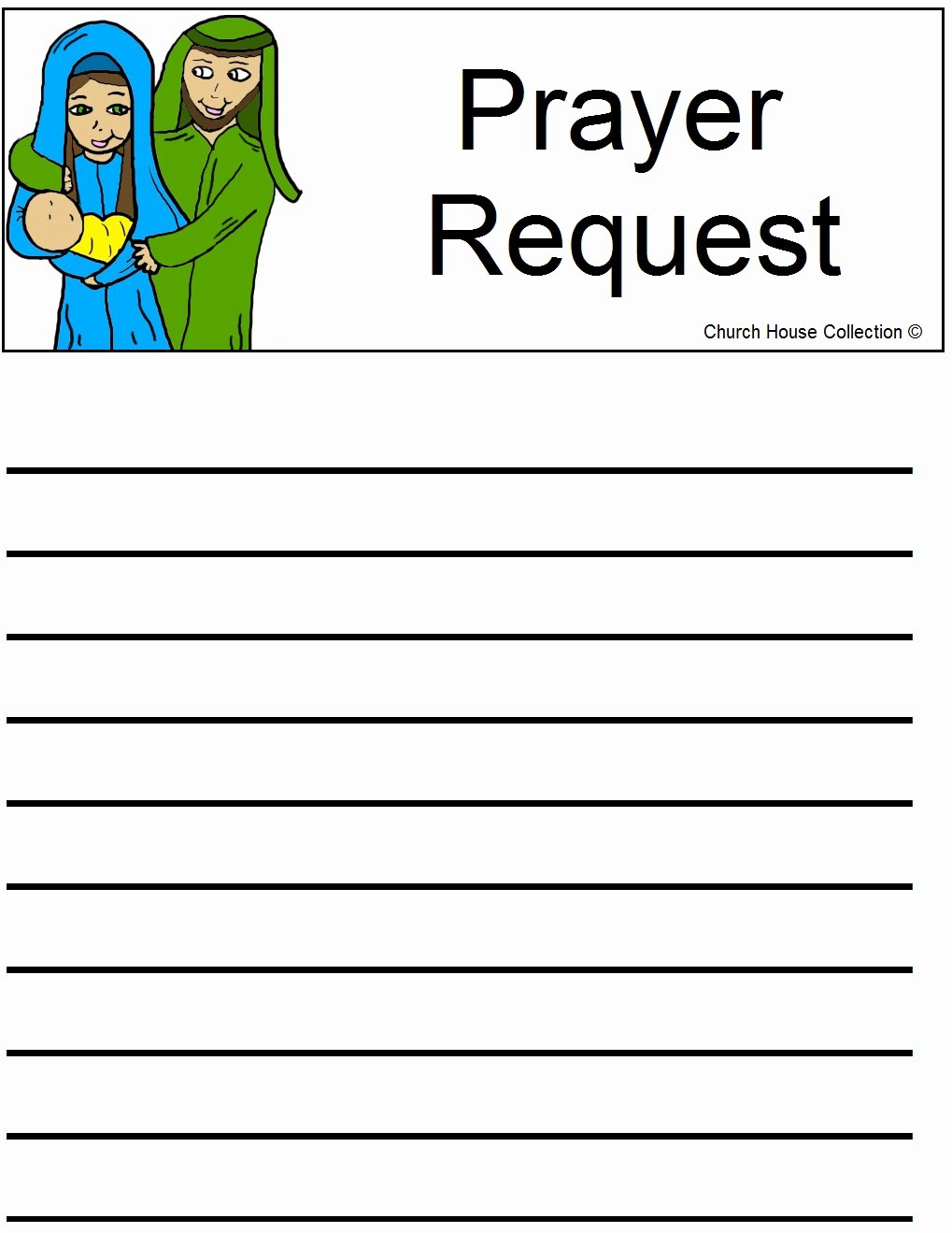 Printable Prayer Request form Awesome Church House Collection Blog Nativity Sunday School Lesson