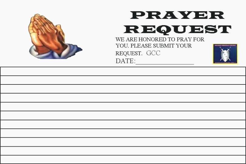 Printable Prayer Request form Beautiful top 44 Vibrant Printable Prayer Request Cards