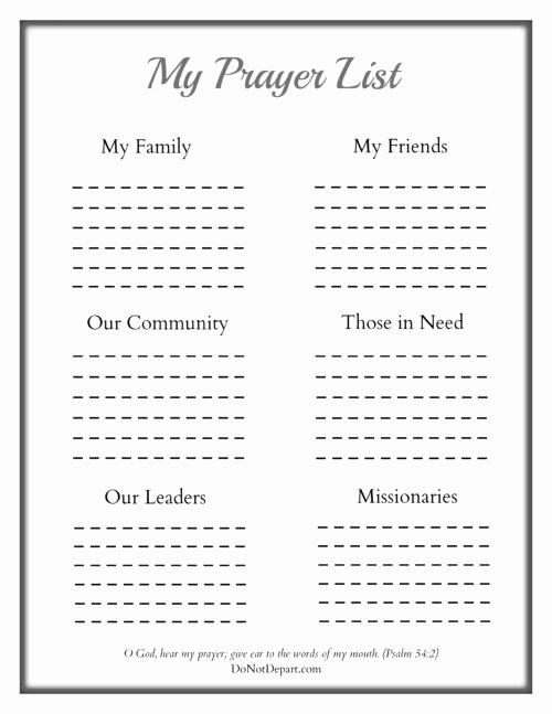 printable prayer sheet for children