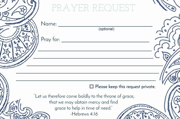 Printable Prayer Request form Unique De 25 Bedste Idéer Inden for Anmodning Bøn På Pinterest