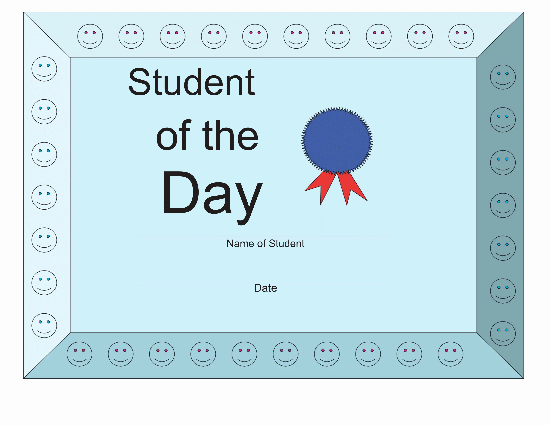 Printable Student Of the Month Certificate Lovely Certificates Download Free Business Letter Templates