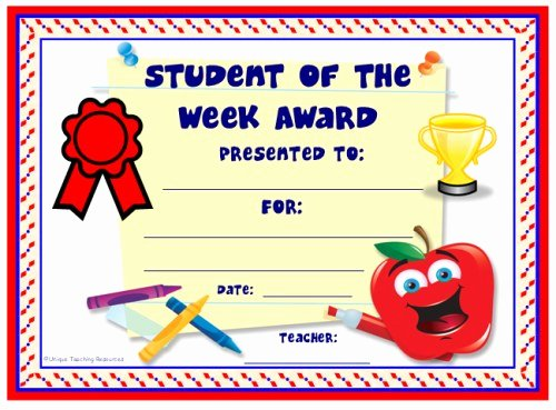 Printable Student Of the Month Certificate Luxury Achievement Award Certificates