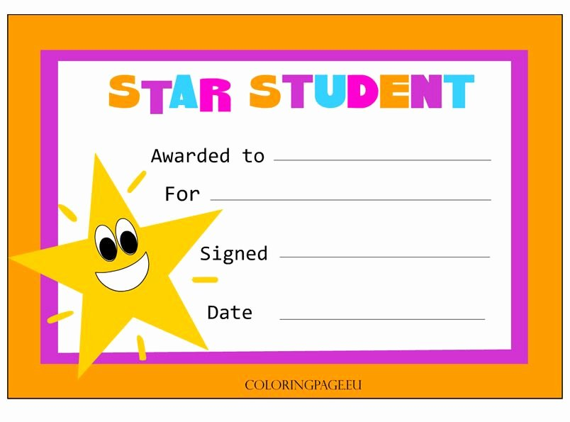 Printable Student Of the Month Certificate New Star Student Certificate TÜrkÇe Pinterest