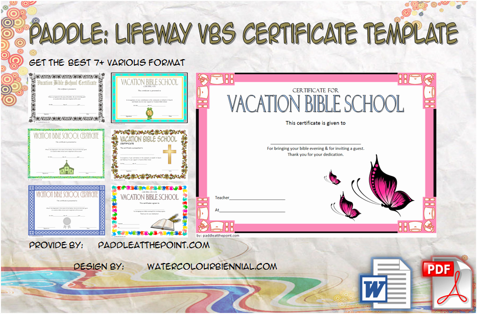 Printable Vacation Bible School Certificate Of Completion Awesome Lifeway Vbs Certificate Template 7 Fresh Designs In 2019