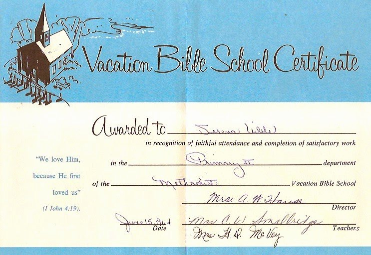 Printable Vacation Bible School Certificate Of Completion Elegant Uibles A Family Blog June 2014