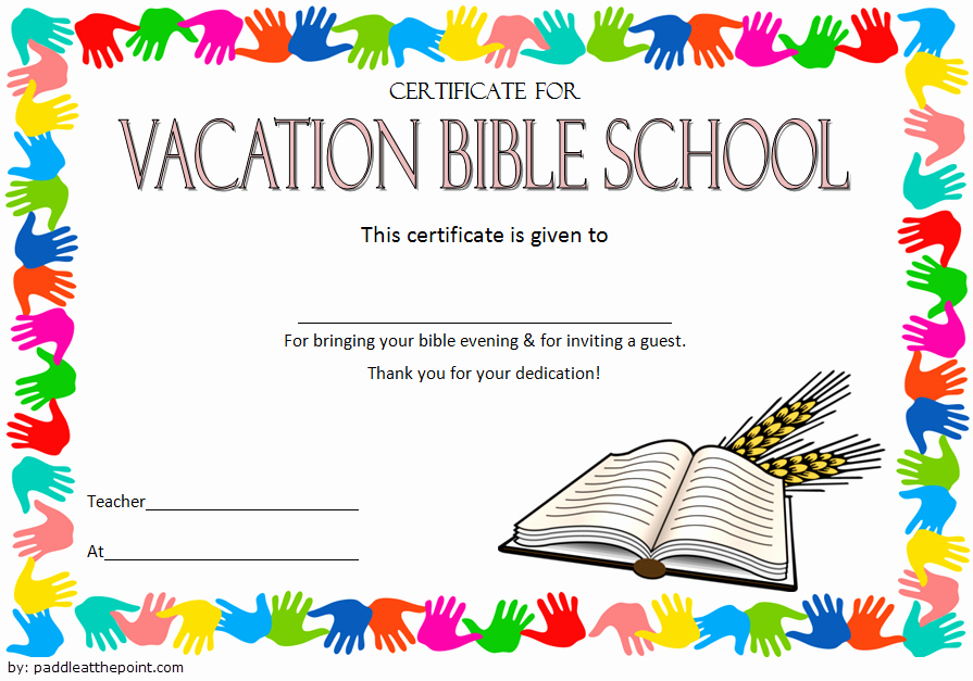 Printable Vacation Bible School Certificate Of Completion Fresh Printable Vbs Certificates Free top 10 Template Ideas