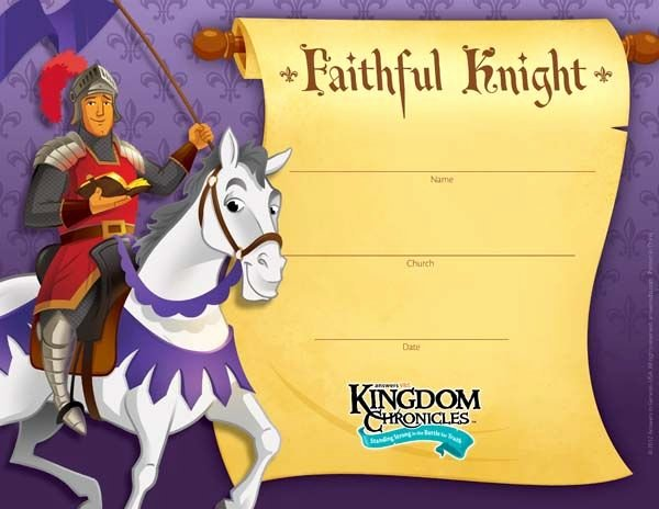 Printable Vacation Bible School Certificate Of Completion New Kingdom Chronicles Vbs 2013 Pintrest