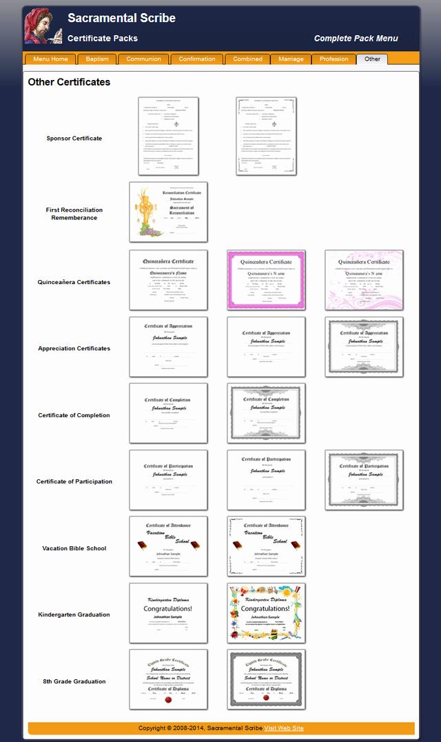certificate pack plete