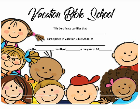 Printable Vacation Bible School Certificates Elegant Vacation Bible School Ideas Vbs Crafts