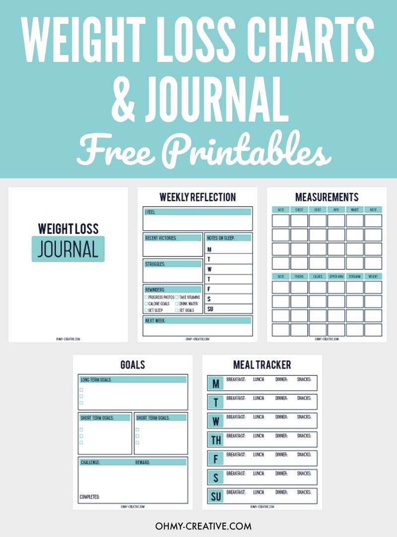 Printable Weight Loss Chart Pdf Unique Printable Weight Loss Chart and Journal for Weight Loss